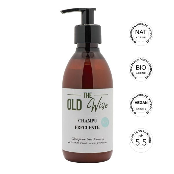 Champú Nº7 uso frecuente con ingredientes naturales The Old Wise